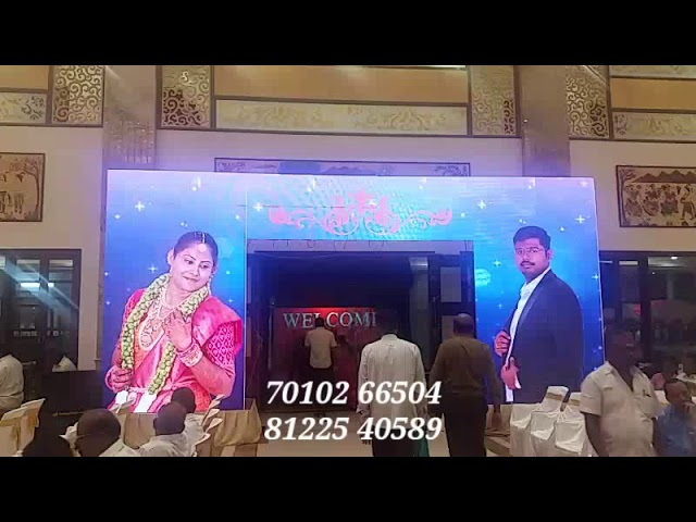 3D LED Video Wall Screen Arch Entrance Decoration Wedding Marriage Reception Event India 81225 40589