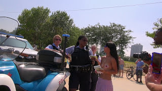 Topless Woman Ticketed At GoTopless Day Rally in Chicago