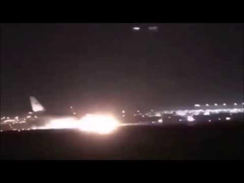 Air disaster  A330-200 plane crash Jeddah  footage captures Авария Аэробуса А330 в Саудовской Аравии