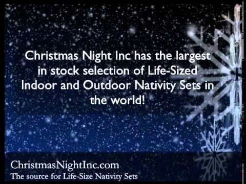Outdoor Nativity Sets – Christmas Night Inc.