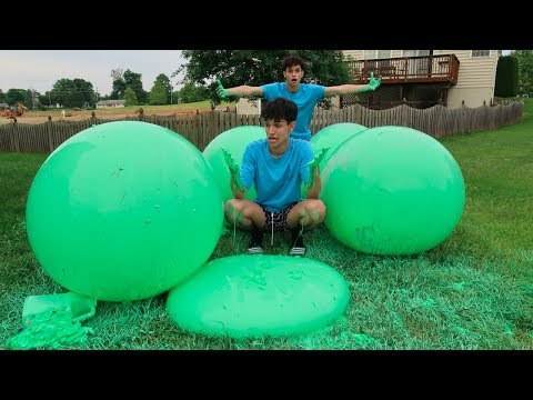 Thumbnail: WE MADE SLIME WUBBLE BUBBLES?! (THIS GOT MESSY)