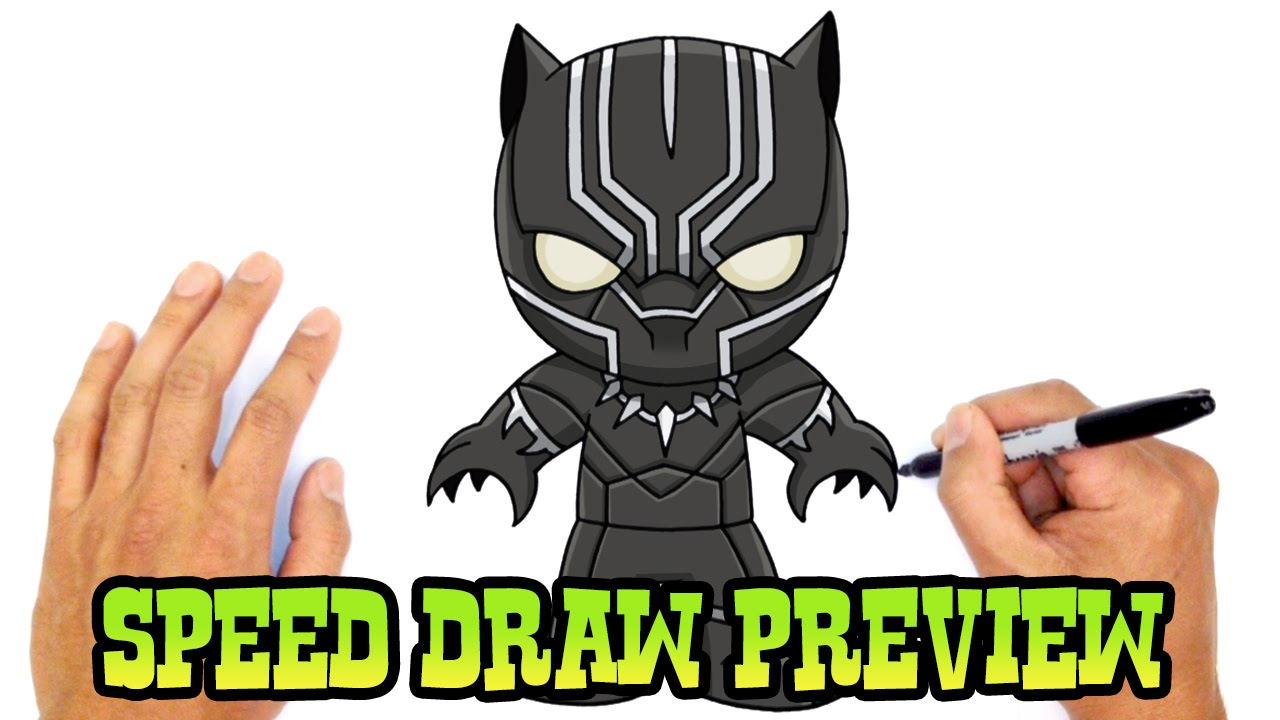 Black Panther The Avengers Drawing Lesson Preview Youtube