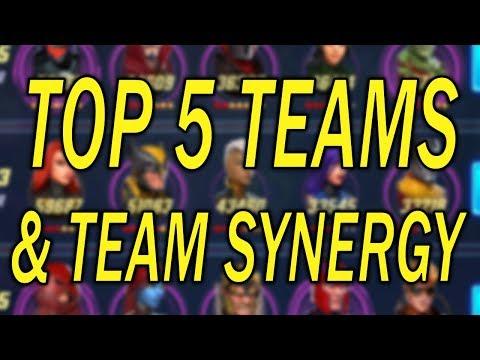TOP 5 Best Teams & Team Synergies - MARVEL Strike Force - MSF