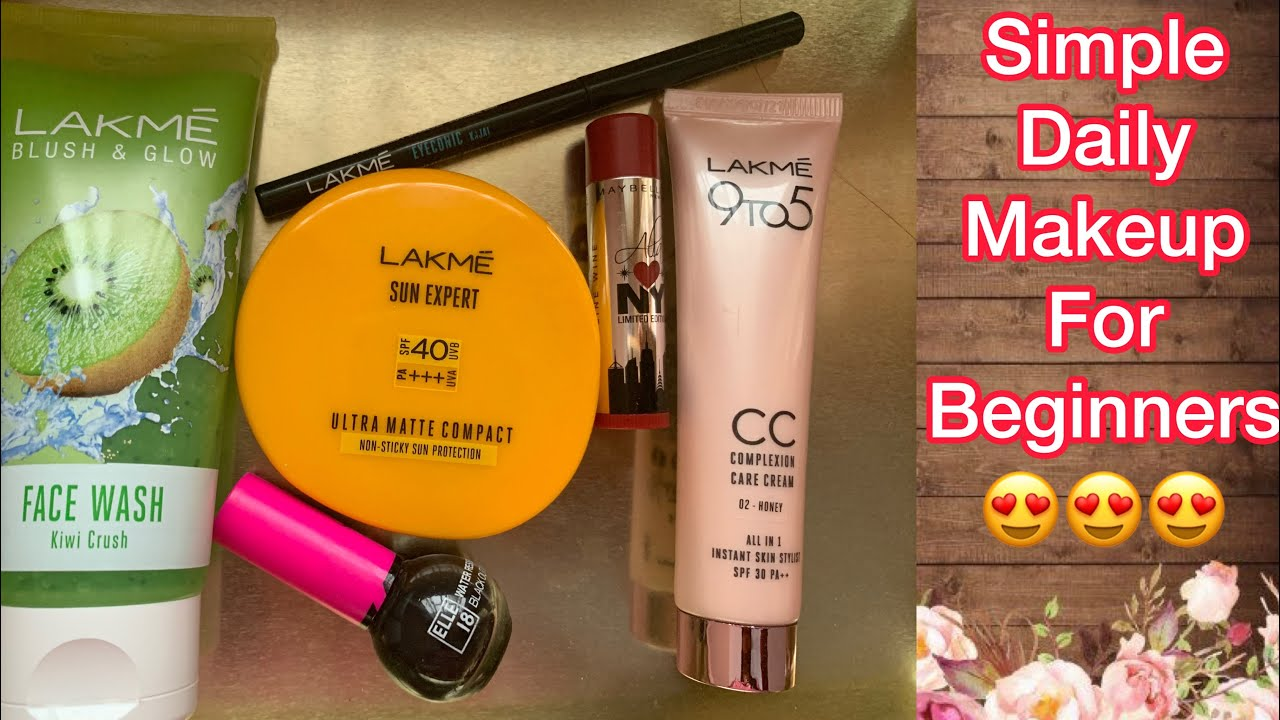 Download Tutorial  Simple Everyday Make-up For Beginners   Office College Makeup in Telugu