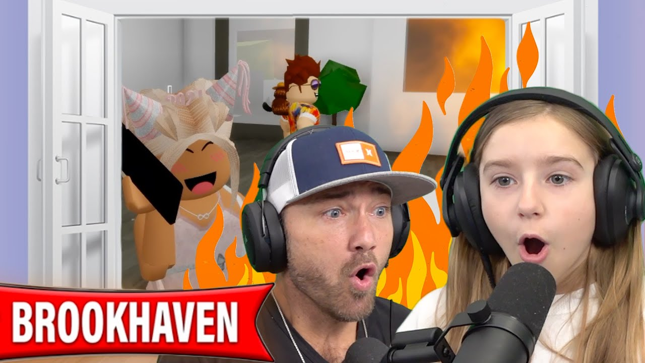 Cammy's New Mansion Catches Fire!! Funny Roblox BROOKHAVEN RP Mini Movie!