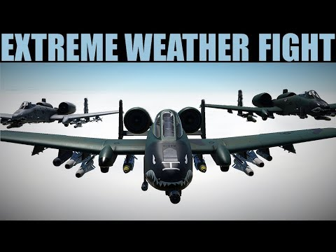 EXTREME Weather Precision Bombing Mission #HurricaneSherman | DCS 2.5