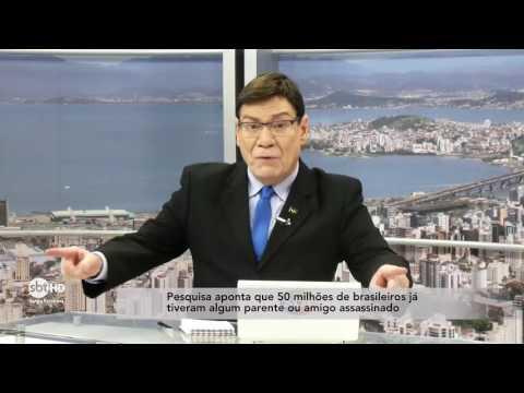 Pesquisa aponta que 50 milhões de brasileiros já tiveram algum parente ou amigo assassinado