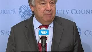 联合国秘书长呼吁各方保持克制 勿忘战争带给人类的苦难