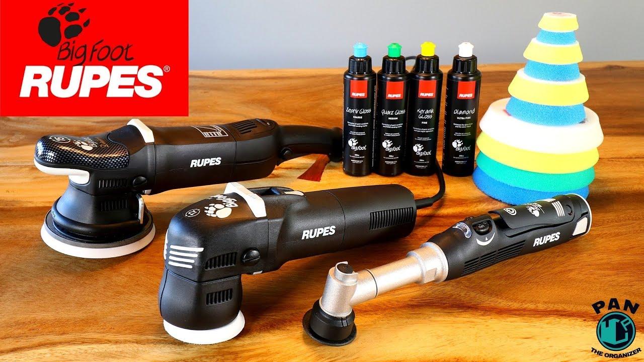 Polisseuses Rupes BigFoot: LHR15 MK II, LHR75E Mini et Nano iBrid !!! -  YouTube