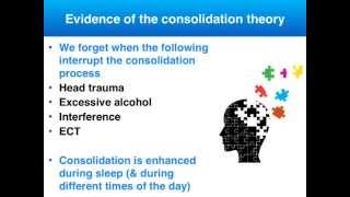Consolidation theory (for memory) - VCE Psychology