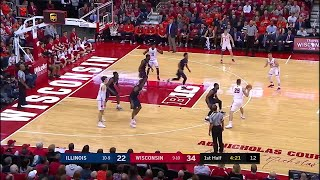 Big Ten Basketball Highlights: Illinois at Wisconsin