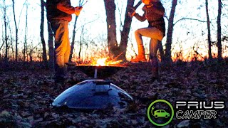 Lighting Fires With Alexis.. | Prius Camping In The Woods