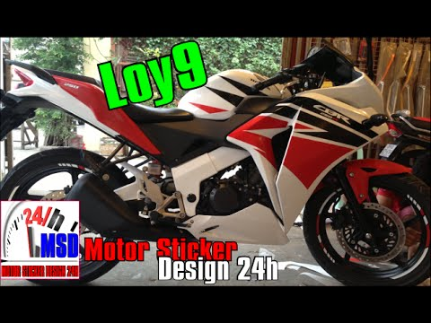 Honda CBRR New Honda Cbr Motorcycle Install Sticker YouTube - Red bull motorcycle custom stickers