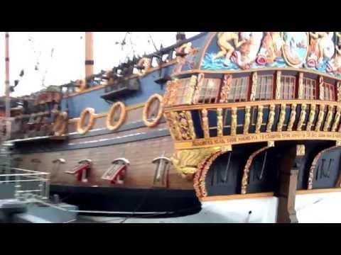 """The ship """"Goto Predestinatsia"""" in the fozen river of Voronezh / Гото Предестинация, Воронеж"""