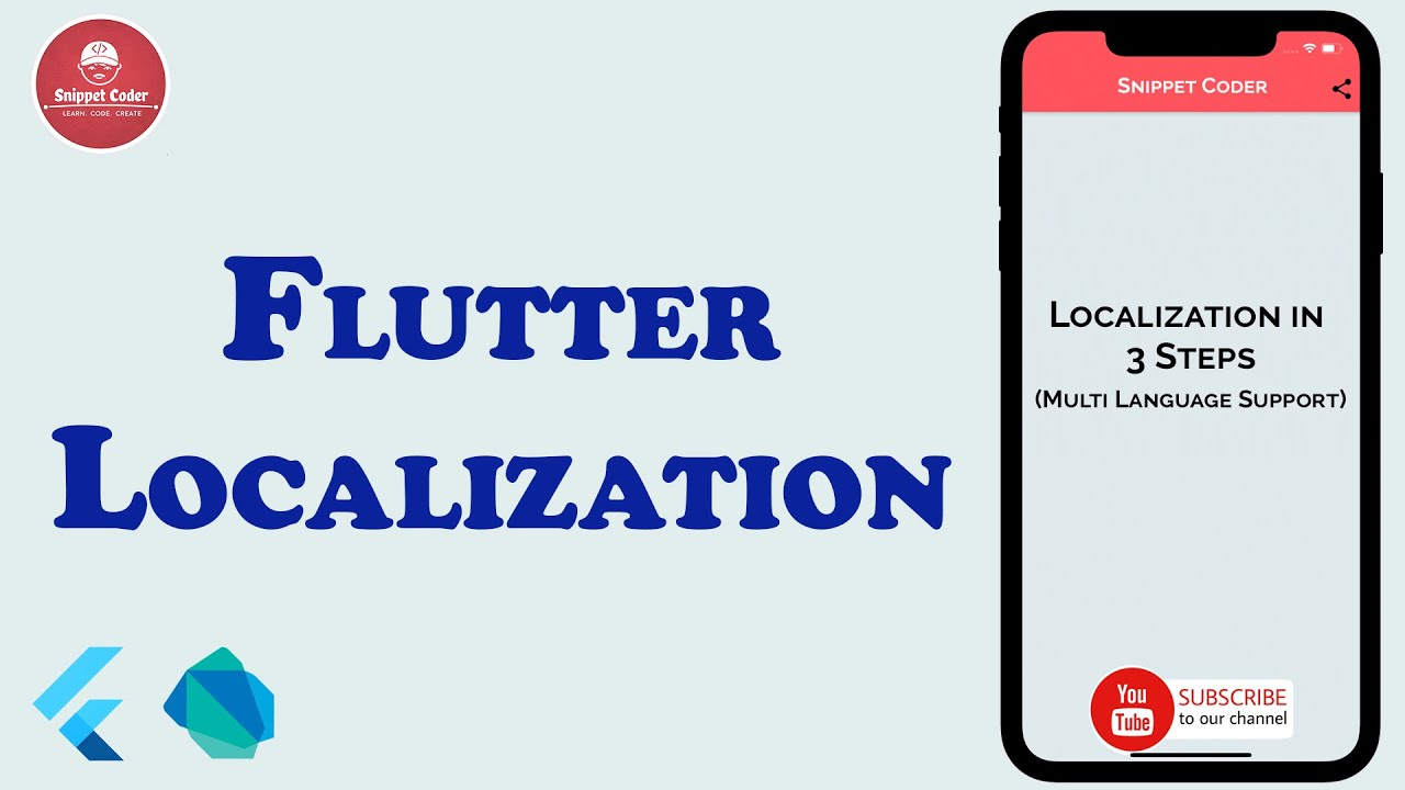 [Flutter] Localization | SnippetCoder | LEARN.CODE.CREATE | HD Video