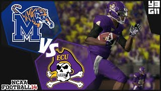 NCAA Football 14 East Carolina Pirates Dynasty- Year 3 Game 11 vs Memphis Tigers