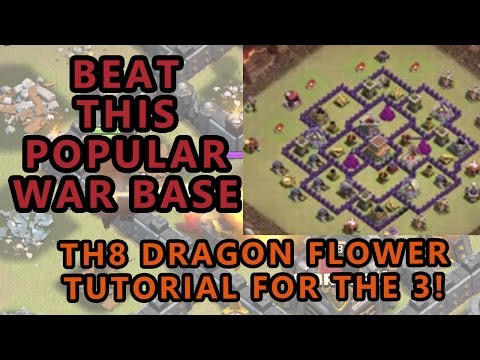 Clash of Clans | How to Beat TH8 Dragon Flower | Warroad Tutorial #10