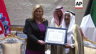 Croatian president in Kuwait for three-day visit