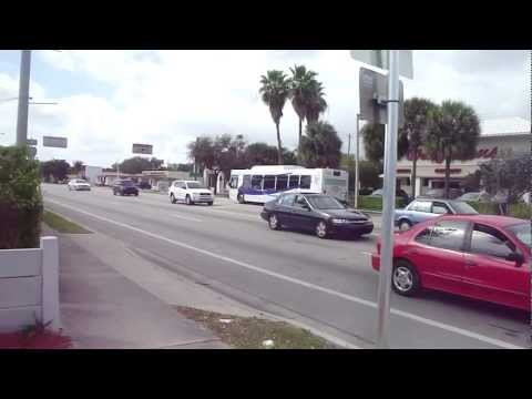 Broward County Transit Bus : NABI 40LFW #0709 on route 1 on US-1 - Dania Beach