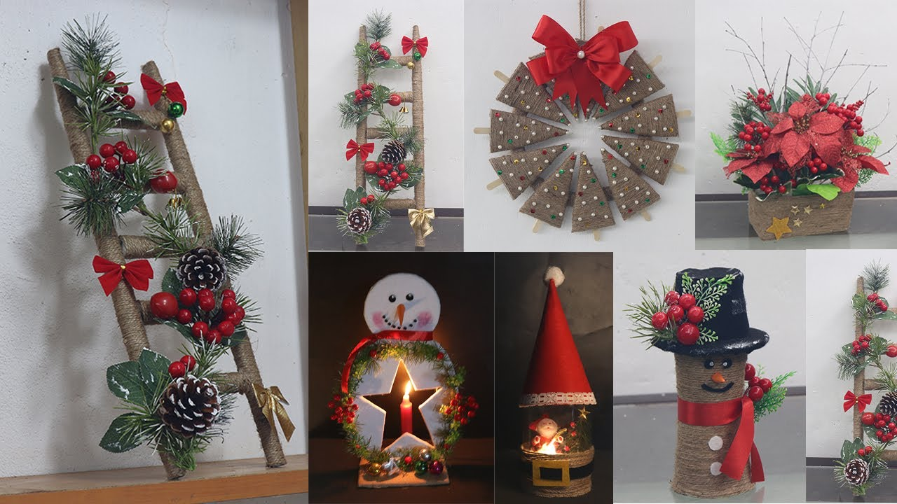 20 Jute craft Christmas decorations ideas   Home decorating ideas 20