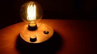 DIY Slice of Wood Night Light