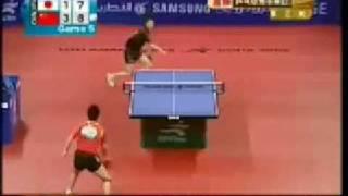 Jun Mizutani vs Wang Hao - Asian Games 2006