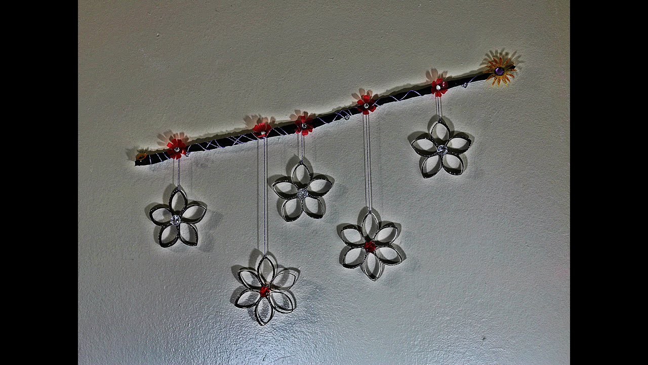 Recycled craft wall hanging with toilet tissue rolls youtube amipublicfo Images