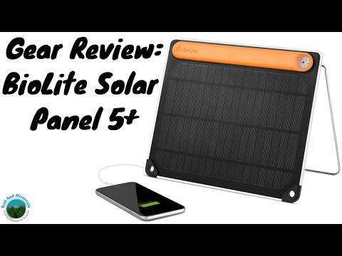 BioLite Solar Panel 5 + gear Review
