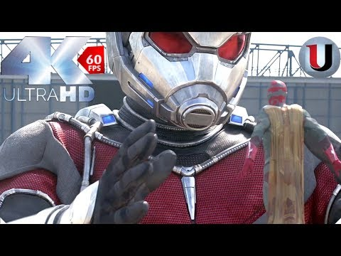 Captain America: Civil War - Airport Battle - Ant Man Becomes Giant Man IMAX MOVIE CLIP (4K)