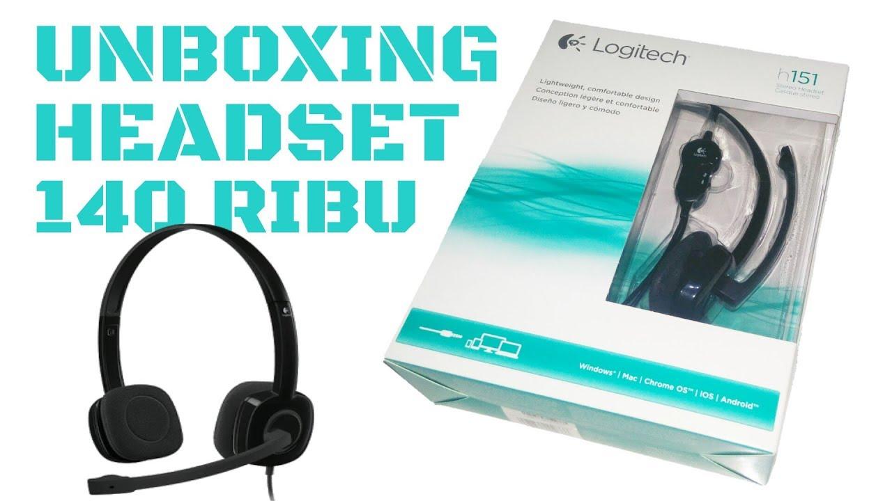 Unboxing Test Mic Headset 140 Ribuan Logitech H151 Youtube