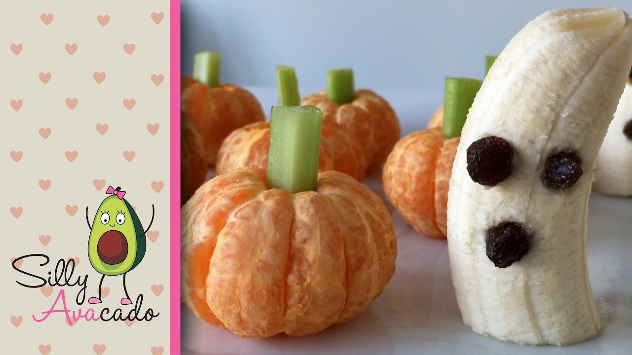 easy healthy halloween treats a kid can make pumpkins ghosts no bake youtube - Halloween Kid Foods To Make