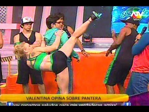 COMBATE Valentina Quiere Pegar A La Pantera Por Molestoso 27/08/13
