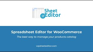 Wp Sheet Editor Bulk Edit Woocommerce Products And Posts In A Spreadsheet