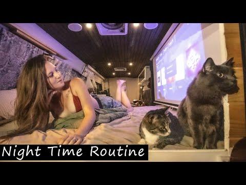 van-life-night-routine-|-married-couple-living-in-a-van-full-time
