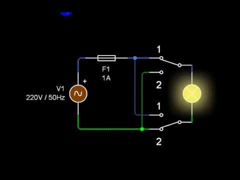 Circuit va-et-vient - Multiway switching - مفتاح متعدد - YouTube