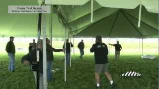 Frame Tent Basics - Striking / Tear Down of a Frame Tent
