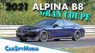 2021 ALPINA B8 GRAN COUPE prototype spied testing at the Nürburgring