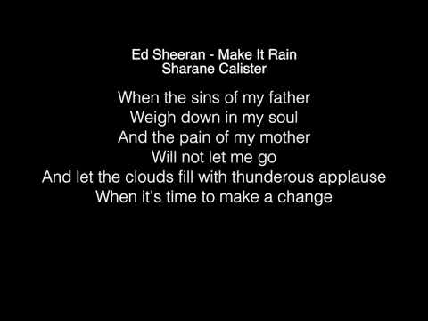 Sharane Calister - Make It Rain  Lyrics (Ed Sheeran) The Voice