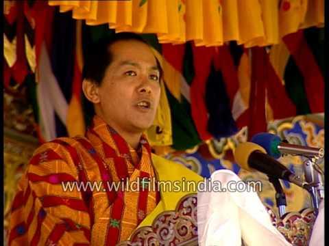 Fourth King of Bhutan - Druk Gyalpo Jigme Singye Wangchuck speaks to the nation