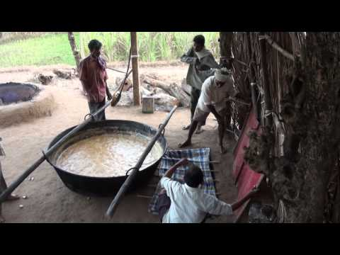 Alemane How Jaggery is prepared
