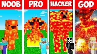 Minecraft NOOB vs PRO vs HACKER vs GOD : LAVA MONSTER in Minecraft! AVM Shorts Animation