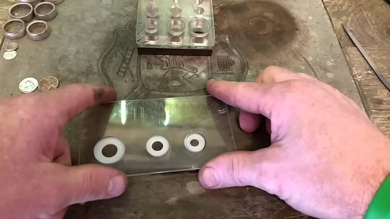 Coin centering card for the harbor freight punch and die set for coin ring making and jewelry