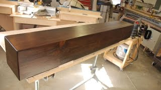 Build A Rustic Faux Beam Mantel Or Shelf