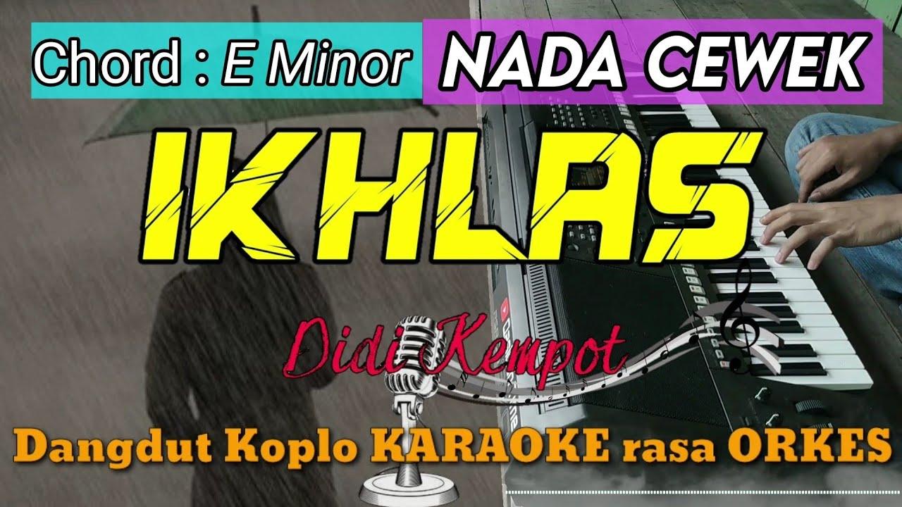 IKHLAS - Didi Kempot Versi Dangdut Koplo KARAOKE rasa ORKES Yamaha PSR S970