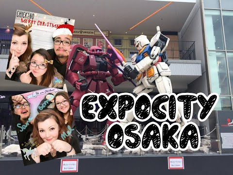 JAPAN VLOG: Expocity Osaka - Gundam Cafe, Pokemon Gym, KFC Buffet!