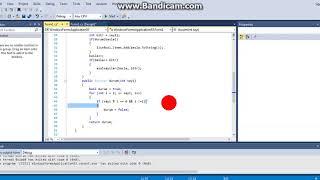 C# Visual Studio metot asal sayılar