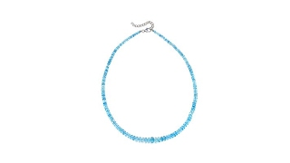 Colleen Lopez Blue Aquamarine Faceted Bead 19