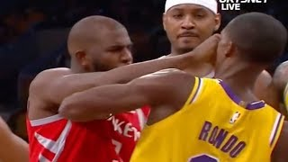 Unseen Closeup REVEALS If Rajon Rondo Or Carmelo Anthony SPIT On Chris Paul Before INSANE Fight!