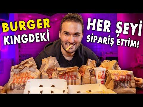 BURGER KİNG'DE HER ŞEYİ SİPARİŞ ETTİM!