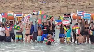 Yas Water World most nationalities in a pool Guinness world record set - Abu Dhabi